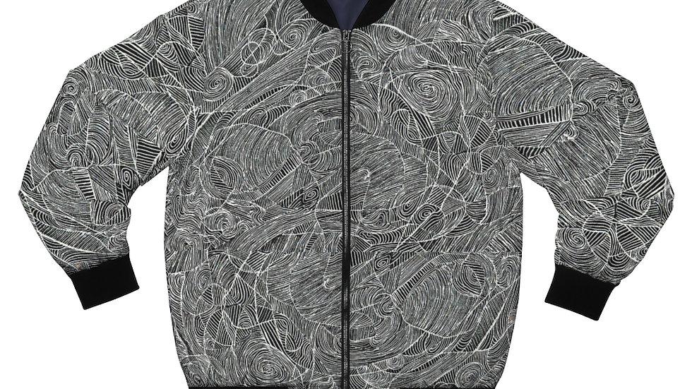line doodle jacket - Men's AOP Bomber Jacket