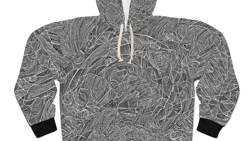 line doodle - AOP Unisex Pullover Hoodie