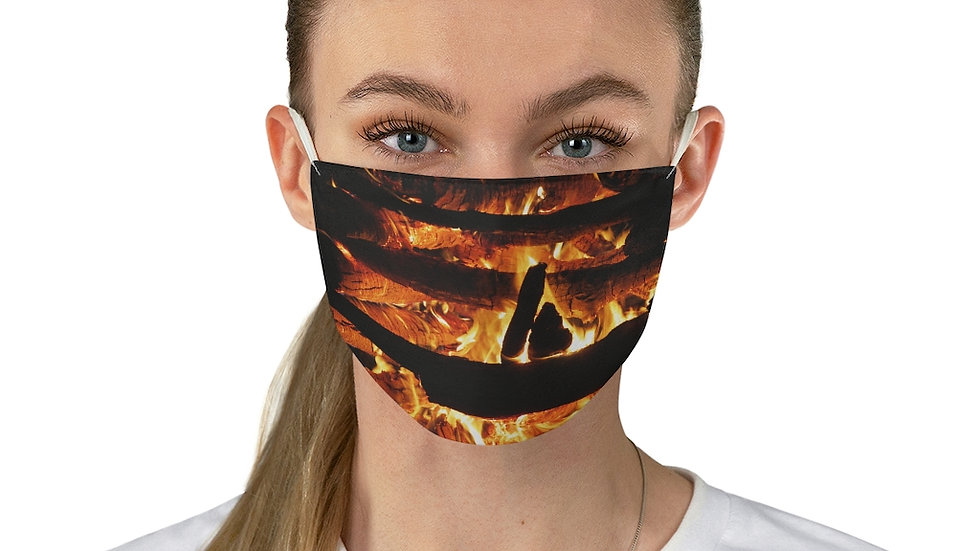 harvest fire - Fabric Face Mask