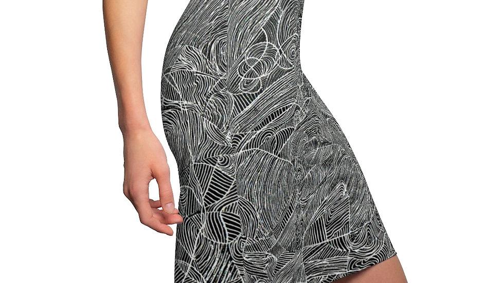line doodle - Women's Pencil Skirt