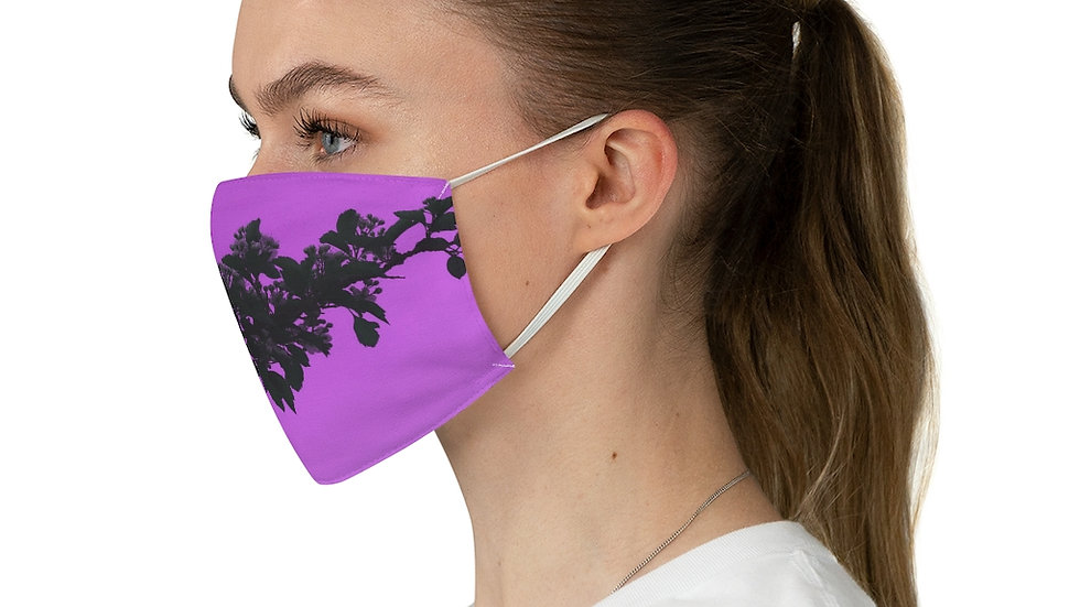 purple branch - Fabric Face Mask
