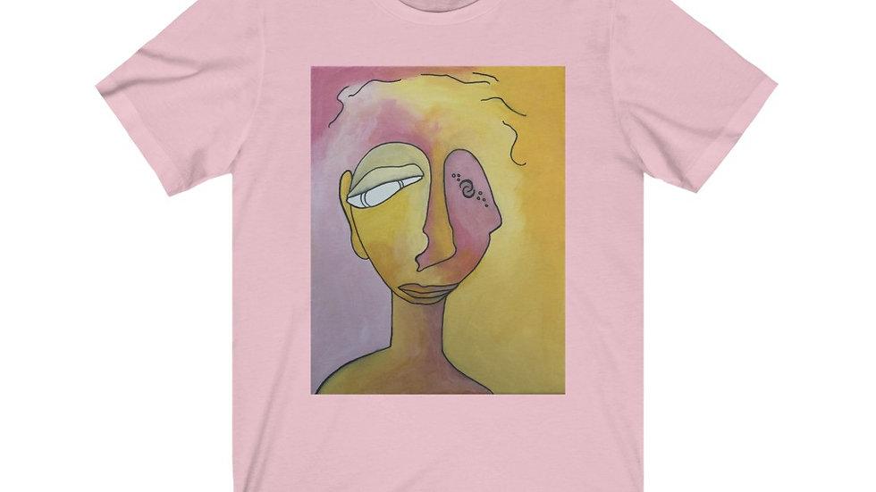 portrait in pink&gold - Unisex Jersey Short Sleeve Tee