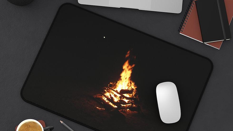 harvest moon & fire - Desk Mat