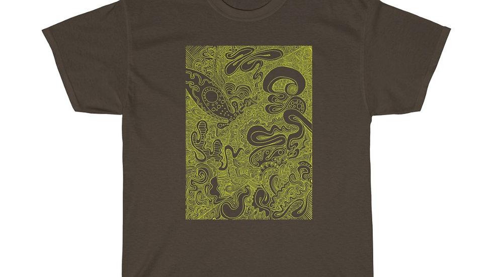 doodle 10 yellow - Unisex Heavy Cotton Tee