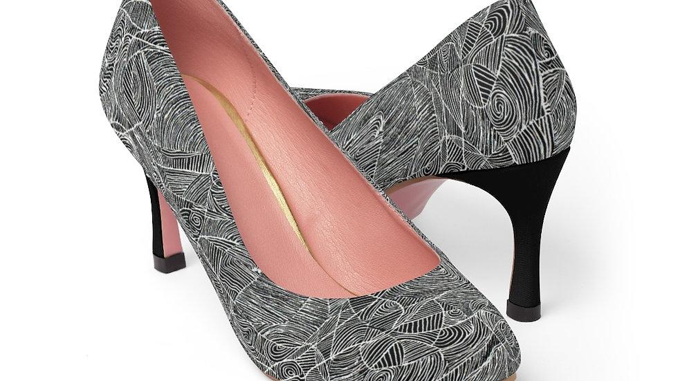 vector line doodle - Women's High Heels