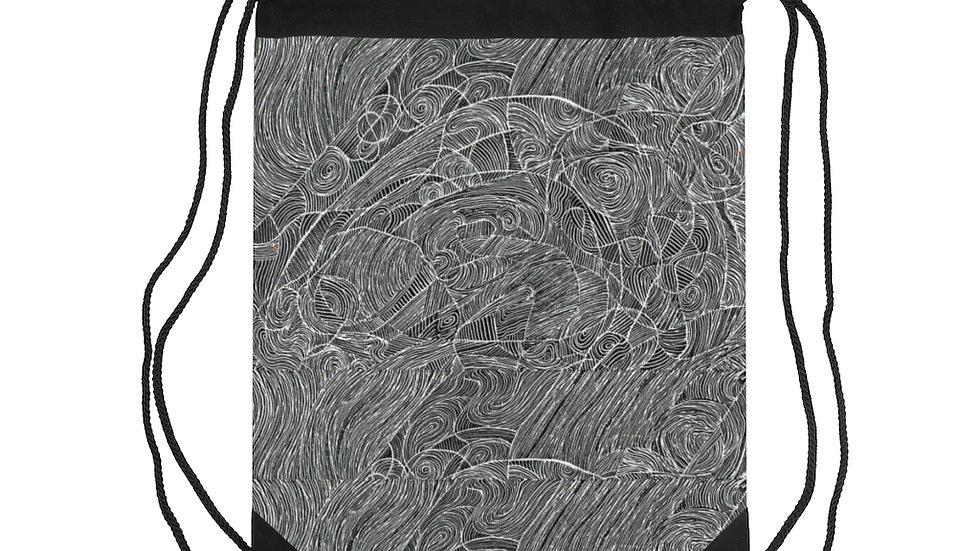 line doodle vector - Drawstring Bag