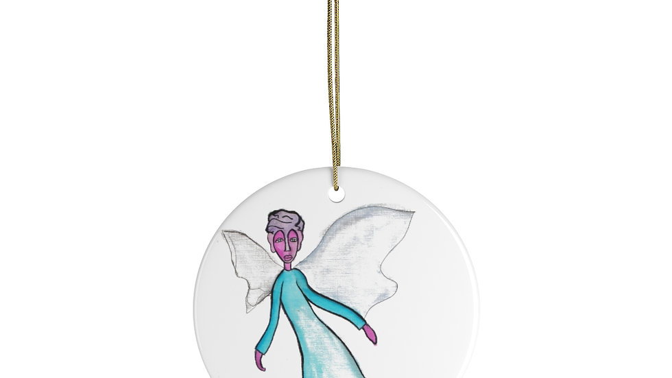 angel in the corner of my eye - Ceramic Ornaments