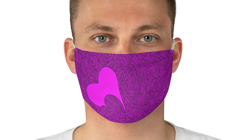 heart doodle - Fabric Face Mask