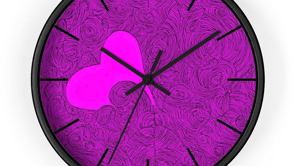 heartdoodle - Wall clock