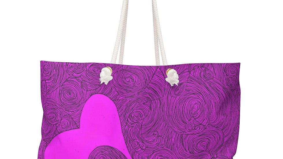 heart doodle - Weekender Bag