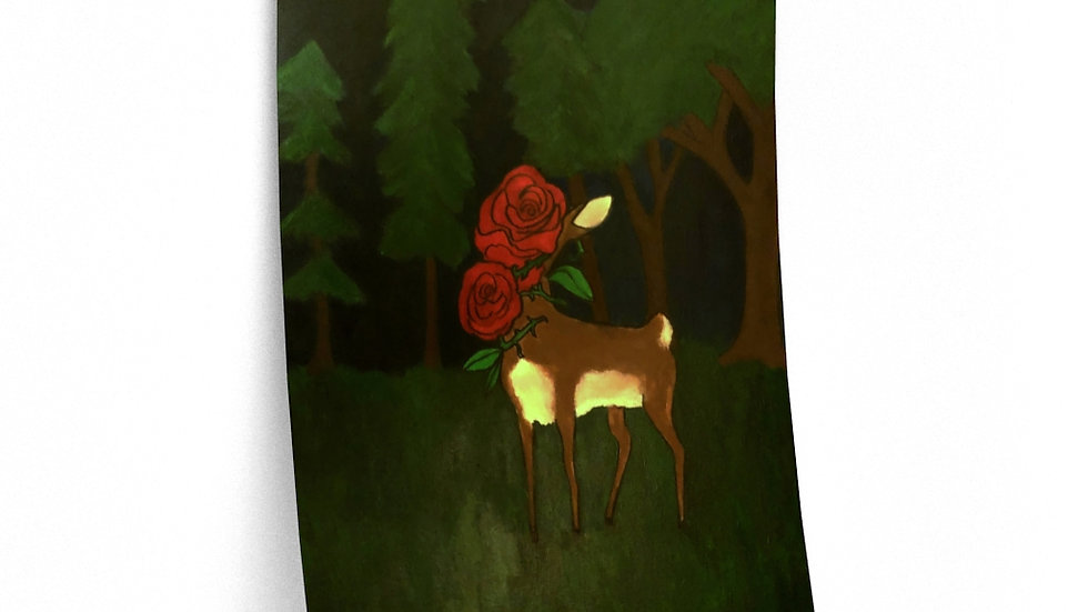 Deer painting poster (from Flutter)