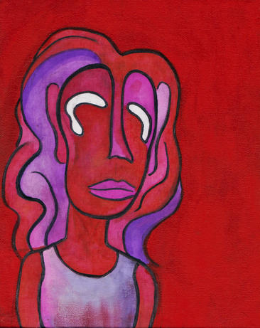 girl in reds/purples (2019)