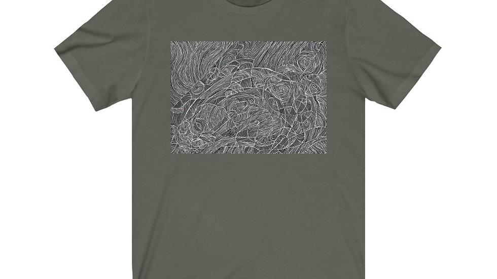 vectors line doodle - Unisex Jersey Short Sleeve Tee