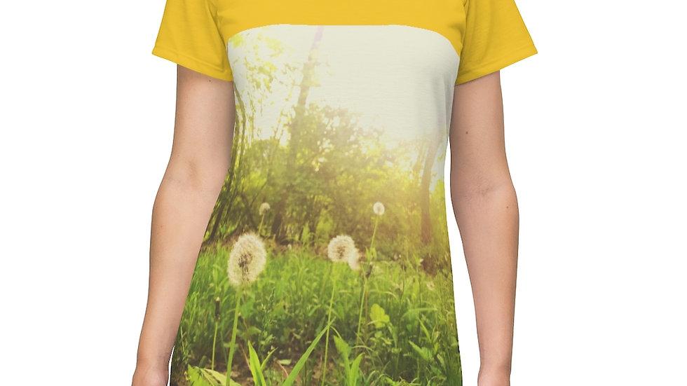 faerie fluff dandelion dress - All Over Print T-Shirt Dress