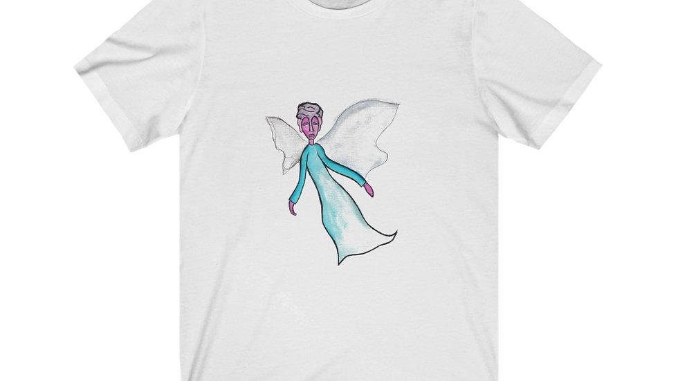 angel in the corner of my eye - Unisex Jersey Short Sleeve Tee