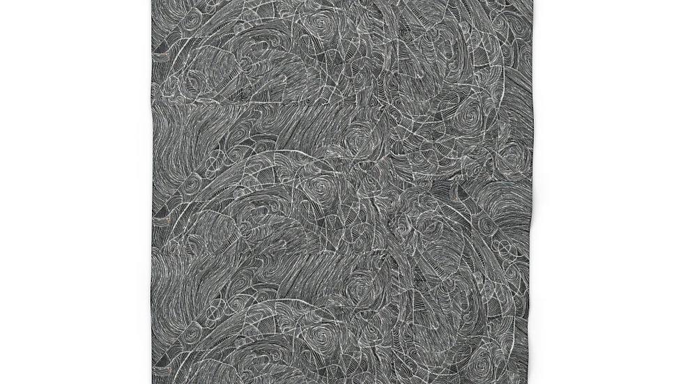 line doodle fleece - Sherpa Fleece Blanket