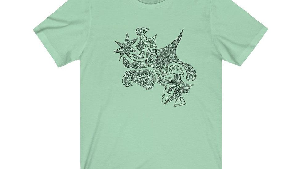 doodle shapes - Unisex Jersey Short Sleeve Tee