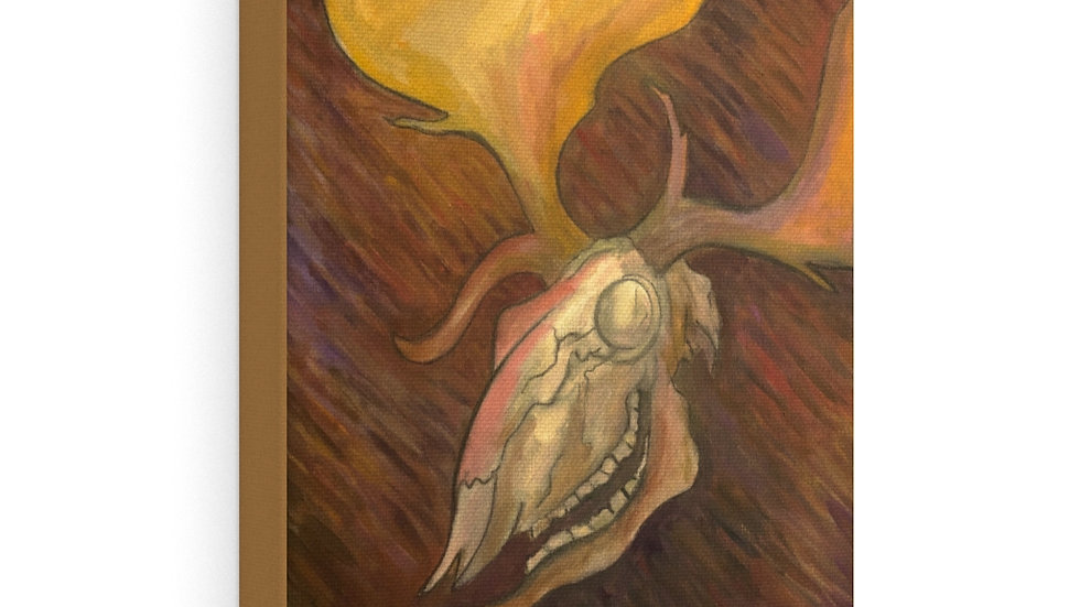 whitehind fallow skull (kernunnos leukos in LBL), 2020 - Canvas Gallery Wraps