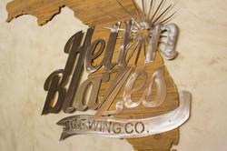 logo wood metal