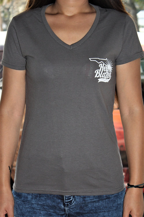 Building T-Shirt: Ladies - Charcoal