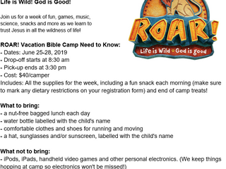 Vacation Bible Camp!