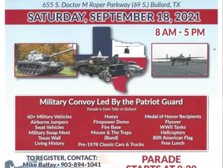 2021 Texas Veterans Military Vehicle and Classic Car Show - 18 Sep 2021  8:00 am - 5:00 pm