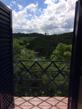 Vista da sacada do apartamento