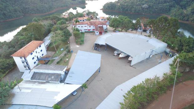 Vista aérea Garagem Náutica