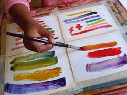 Exploring colours.