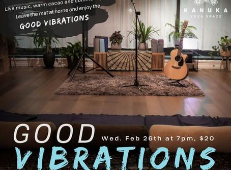 Good Vibrations at Kanuka Yoga