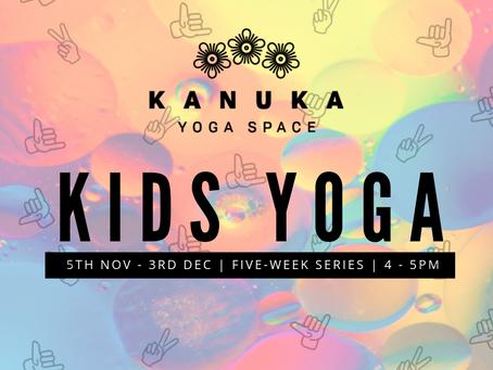 Kids Yoga Afterschool Series in November