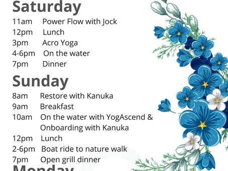 Agenda for Lake Tarawera Retreat