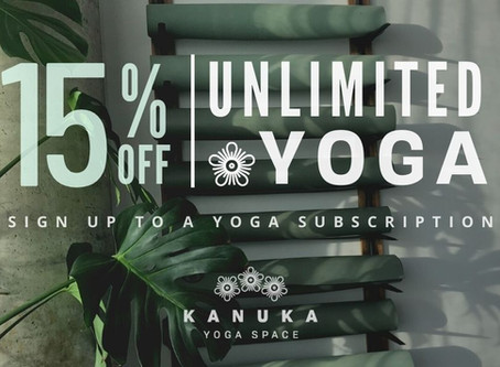 15% Off Unlimited Yoga!