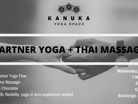Partner Yoga + Thai Massage on February 13th