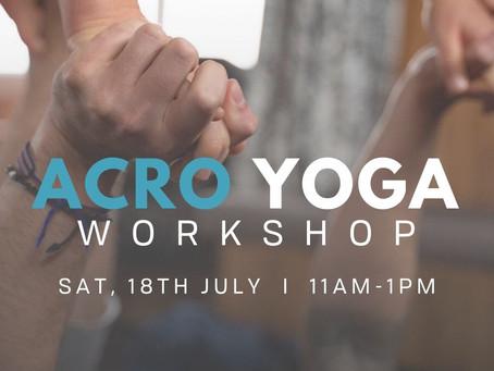 Acro Yoga Workshop - Beginners/Intermediate
