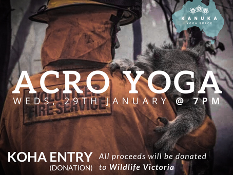 Acro Yoga - supporting fire relief in Australia
