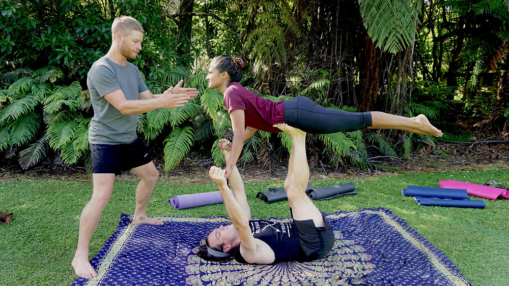 Acro Yoga - Lake Tarawera Retreat