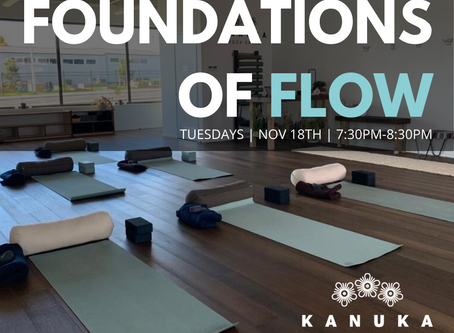 Foundations of Flow begins November 19th