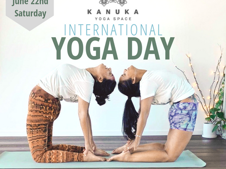 Bring a friend to International Yoga Day at Kanuka!