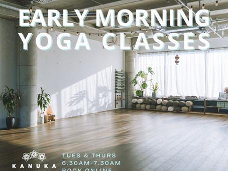 Early Morning Classes at Kanuka Yoga Space