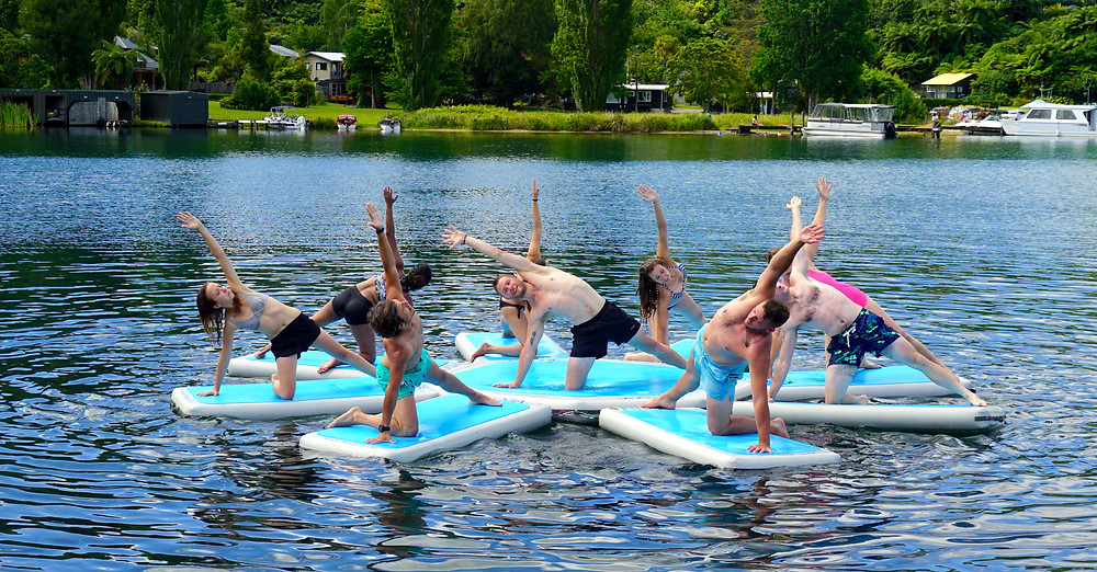 Kanuka Yoga, YogAscend, Aquamats, power flow, water, retreat