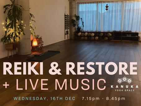 Restore, Reiki + Live Music