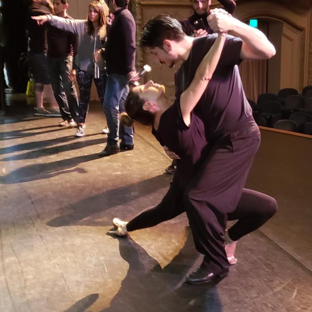 Tangueros on Stage Rehearsal