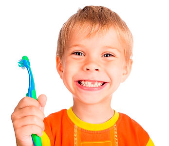 child with missing tooth toothbrush oral hygiene
