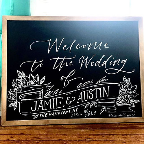 Welcome Chalk Sign