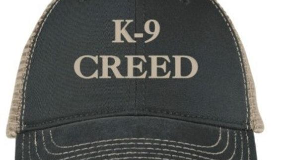 K9 Creed trucker hat black