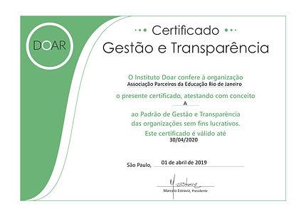 2019-04-01 Certificado DOAR 2019 Parceir