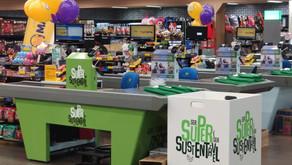 Usar sacola retornável no Superalfa agora rende moedas verdes