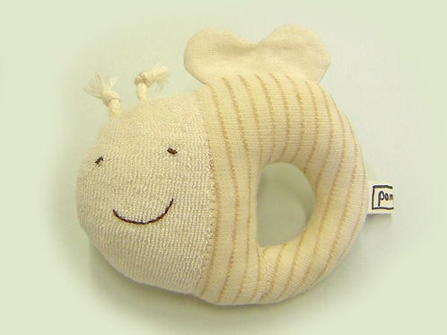 POMPKINS 100% Organic Cotton Rattle Honeybee