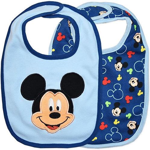 Disney Mickey 2 Pack Bibs